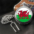 Wales Flag Welsh Pocket Watch