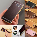 For iPhone&Samsung Cover Luxury Slim Ultra-thin PU Leather Soft TPU Phone Case