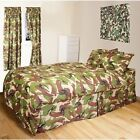 KIDS ARMY BEDROOM BEDDING CURTAINS SINGLE DUVET COVER DPM CAMOUFLAGE BOYS CAMO