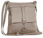 Big Handbag Shop Genuine Italian Leather Messenger Cross Body Shoulder Bag