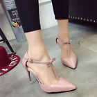 Women fashion leather fashion points the soles of the feet with thin heel pumps