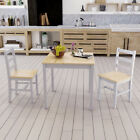 Wooden Dining Table And 2 Chairs / 4 Chairs Set  Kitchen Furniture 3 Colors NEW
