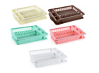 Plastic Dish Drainer Tray Cutlery Draining Holder velvet style Plate Rack New