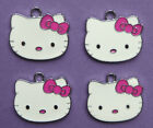 HELLO KITTY Pink Metal Charms Pendant Party Bag filler jewellery choose quantity