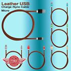 New Strong Leather Braided Metal Anti Tangle Android Micro USB Charger Cable