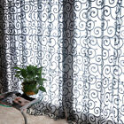HOT Pastoral Floral Sheer Tulle Voile Door Scarf Valances Drape Window Curtains