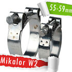 55-59mm | Mikalor W2 | Stainless | QTY 1-5-10 | Hose Clip | Exhaust Clamp |