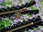 22 INCHES  BLACK LACE ZIP/ METAL BRASS TEETH CLOSED ENDED./ No: 3