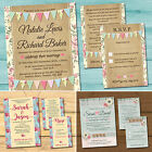 Wedding Day or Evening Invitation Bundle with RSVP Card, Gift Poem & Envelopes