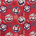 RED WHITE & BOOP COLLECTION - 100% Cotton - BETTY BOOP (PATRIOTIC) (4510201-3) £17.99 GBP on eBay