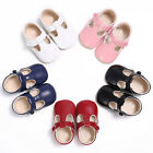 Toddler Newborn Baby Boy Girl Leather Soft Crib Shoes Christening Pram Prewalker