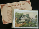 Vintage CURRIER & IVES Prints Set of 4 Lithographs Four Seasons Series