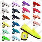 New Ladies Girls Flossy Style Javer Espadrille Plimsole Pumps Flat Canvas Shoes