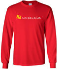 Air Belgium Retro Logo Belgian Airline Long-Sleeve T-Shirt