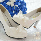 Pearl White Lace Butterfly Wedding Bridal Shoe oAUr High Heel Flat Party Fit