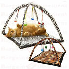 NEW ANIMAL PRINT PET CAT ACTIVITY PLAYING TENT TOY BED PAD DOG MAT HOUSE BELLS