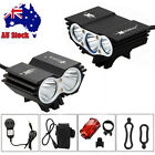 Rechargeable 10000LM 3X&X2 XML-U2 LED Front Bicycle Light Bike Lamp Headlamp SET