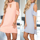 Women's Casual Summer Short Sleeve Off the Shoulder Cocktail Party Loose Dress