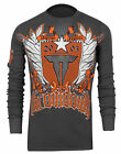 Throwdown Republic Long Sleeve Shirt (Charcoal)