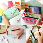 Leather Zip Fashion Wallet Womens Clutch Card Holder Coin Purse Small Handbag