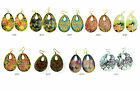 Innocent Lifestyle Oval Round Hole Enamel Earings Ladies Mix Prints Multi Colour