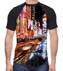 New York Times Square Men's All Over Baseball T Shirt - American Patriotic City