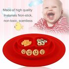 Children One-Piece Silicone Placemat Kids Feeding Food Dish Suctions Antislip BP