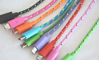ROUND BRAIDED 10FT fabric charge cable FOR galaxy s2 s3 s4 s6 s7+ edge MICRO USB