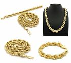 """NEW HOP HOP 10mm & 22""""/26"""" ROPE CHAIN NECKLACE & 10mm & 9"""" ROPE CHAIN BRACELET"""