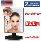 Make Up Mirror Cosmetic Vanity Mirror Touch Screen Lighted Tabletop LED Lights
