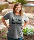 """""""Love One Another"""" Grace & Truth Short Sleeve Grey Heather Fashion Tee"""