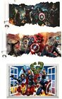 3d Avengers Marvel Superhero Wall Sticker Iron Man Thor Captain Vinyl Decal Room