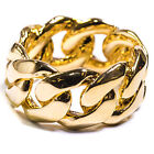 CUBAN LINK RING - STAINLESS STEEL 18K GOLD PLATED