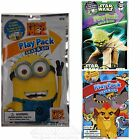Buy 1 Get 1 50% OFF Lot/4 Bendon Play Pack TV & Movie Grab & Go Coloring Book