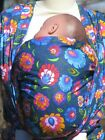 NEW ETHNIC FOLK FLOWERS LOTUS BABY SLING WOVEN 100% COTTON WRAP CARRIER
