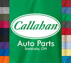 CALLAHAN Auto Parts T-Shirt 100% Ohio Funny Tommy Boy Movie - 100% Ringspun Tee