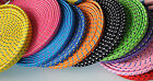 FLAT BRAIDED 10FT LONG fabric charge cable cord FOR iphone 4 4s & ipod data sync