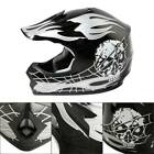 DOT Youth ATV Motocross Dirt Bike Black Skull Helmet w/ Goggles+Gloves S/M/L/XL