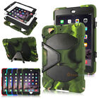 Waterproof Shockproof Military Kids Rubber Stand Case Cover For iPad Mini 1 2 3