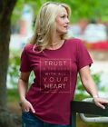 """""""Trust In The Lord"""" Grace & Truth Short Sleeve Maroon Fashion Tee"""