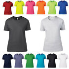 New Anvil Womens Basic Tee Ladies Short Sleeved Crew Neck T-Shirt Top Size S-2XL