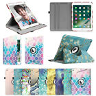 "For New iPad 5th Generation 9.7"" 2017 Case Rotating Stand Cover with Sleep Wake"