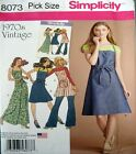 Simplicity Sewing Pattern 8073 Ladies Vintage Retro 70's Wrap Dress Pick Size
