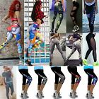 Yoga Sports Leggings Fitness Running 3/4 Printed Casual Gym Stretch Trousers
