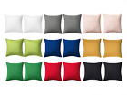 "100% Cotton -Solid Color Pillow Case Cushion Covers 20"" x 20"" with Zip -2pcs NEW image"