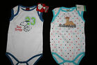BAMBI / PEANUTS Character Babygrows Playsuits NEW 0-36 Months Snoopy Boys Girls