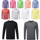 Men's Russell Handfeel Comfortable Crew Neck Long Sleeved HD T-Shirt Size XS-2XL