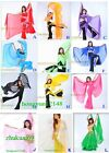 240cm120cm Soft Silk Chiffon Veil Gold Trim Belly Dance Shawl Scarf 12 Colors