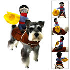 Breathable Dog Costume Cowboy Knight Harness Soft Pet Dog Clothes Apparel S M L