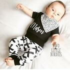Personalised name Monochrome black and white Baby Grow Vest Body Suit gift idea